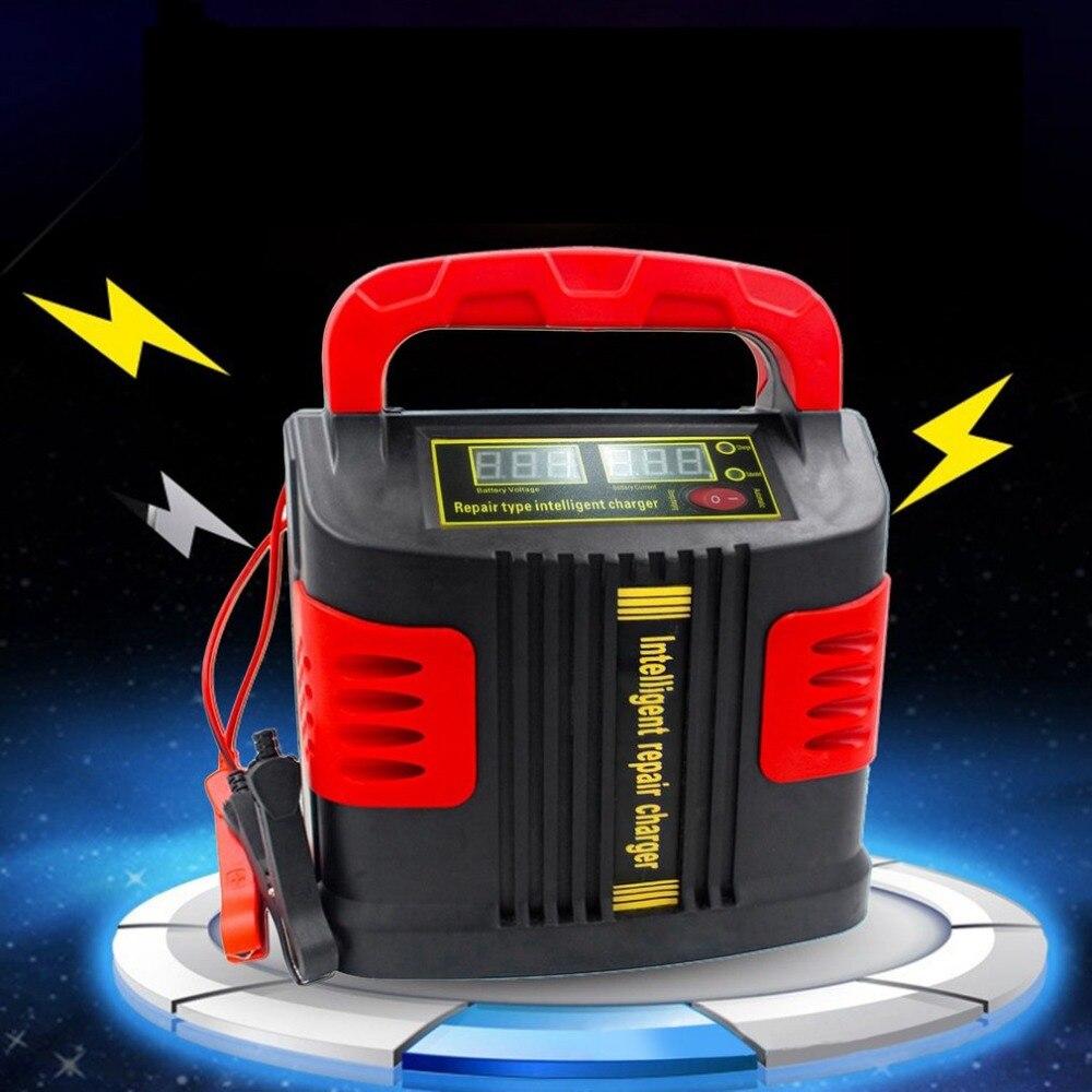 Nouveau chargeur Portable Intelligent chargeur de véhicule automobile 350 W 14A réglage automatique LCD chargeur de batterie Booster de voiture