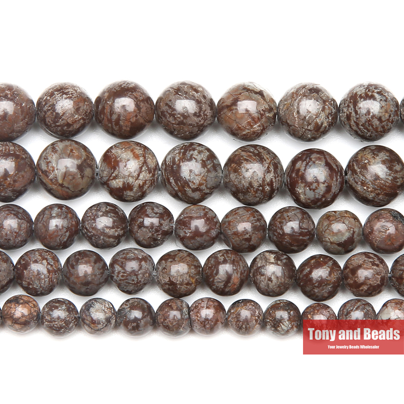 """Natural Round Red Snowflake Obsidian Gemstone Beads Strand 15/""""  6 8 10 12mm"""