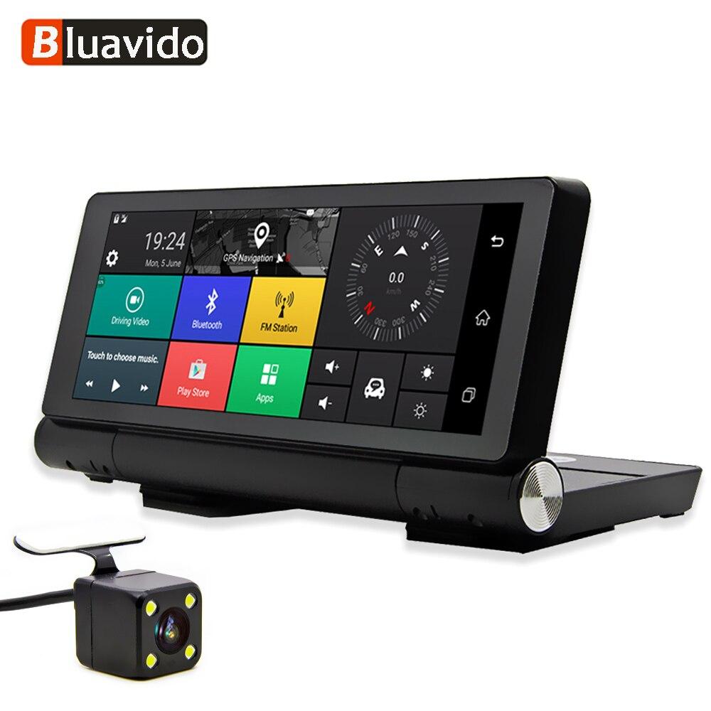 Bluavido 7 Touch 4G Android камера-видеорегистратор gps FHD 1080P регистраторы навигации ADAS Ночное видение Двойной объектив автомобиля видео Регистраторы ...