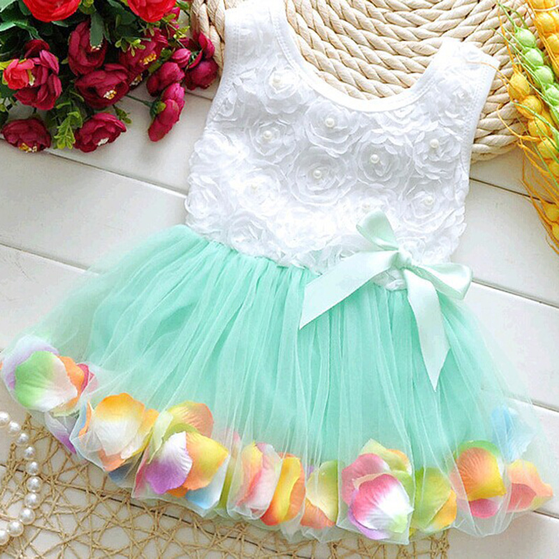 Kid Girls Princess Hot Sales Toddler Baby Party Tutu Lace Bow Flower Dresses Clothes NEW 2017 fashion summer hot sales kid girls princess dress toddler baby party tutu lace bow flower dresses fashion vestido