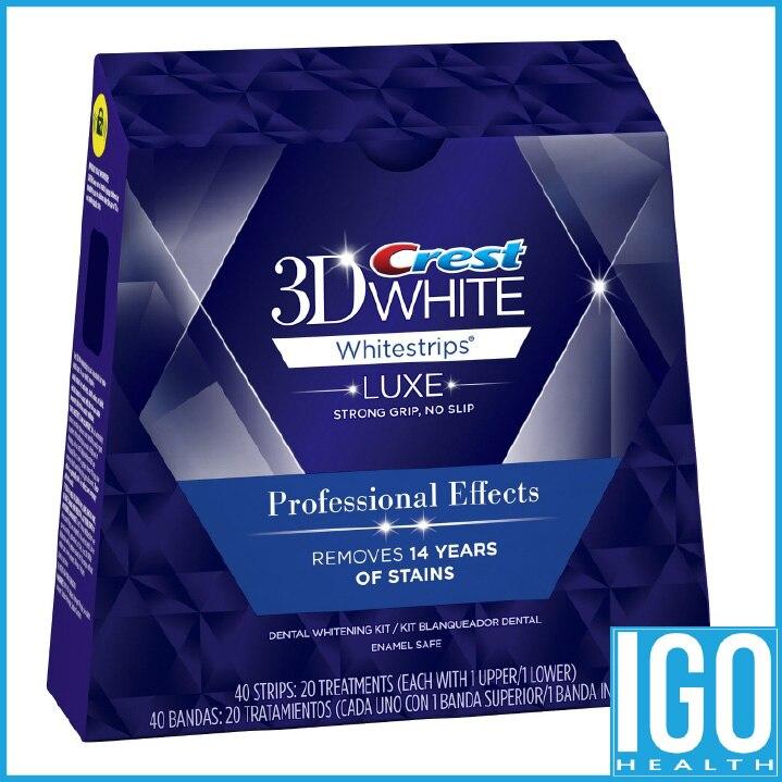 Crest white 3d zähne Whitestrips Luxe Professionellen effekt 1 box 20 Beutel Ursprünglichen Mundhygiene Zahnaufhellung streifen