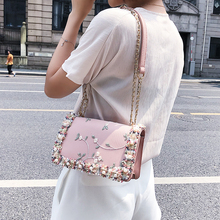 Lace Flowers Women High quality PU Leather ShoulderBag (3 colors)