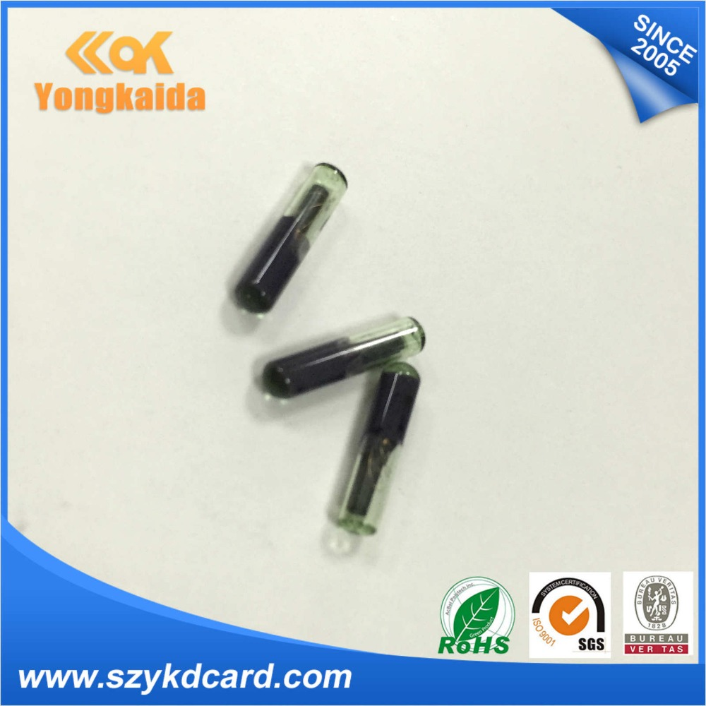 Yongkaida I-code2 ISO15693 FDX-B 2.12*12mm RFID microchip injector Animal glass tags