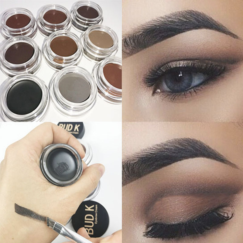 9 Colors Eyebrow Enhancers Maquiagem Makeup Waterproof Eye Brow Filler Beverly Hills Pomade Gel CARAMEL BUD K Brand