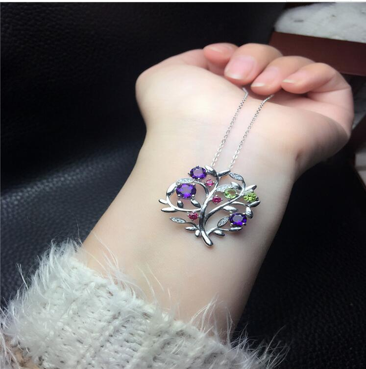 Amethyst pendant Free shipping Necklace pendant Natural amethyst pendants 925 sterling silver Gem Size 6mm/5mm/4mm цена и фото