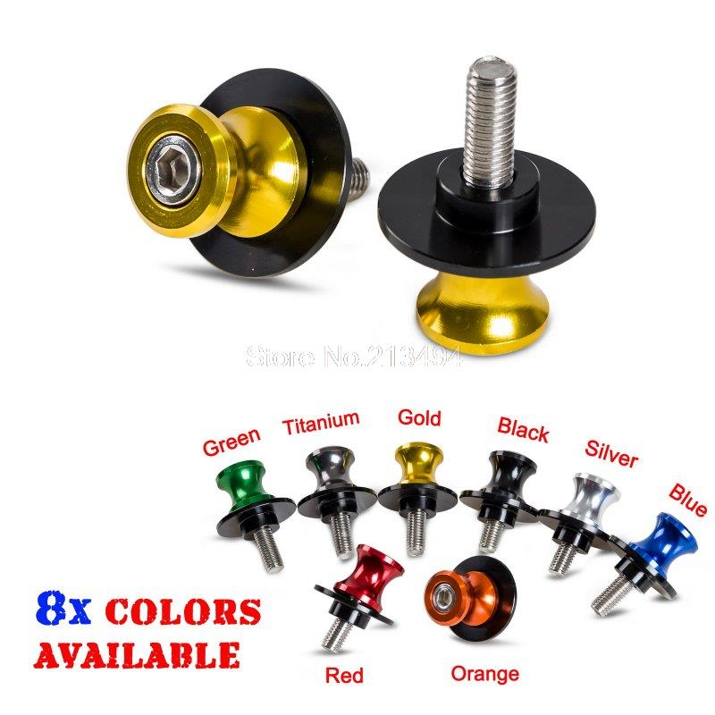 купить H2CNC 8mm Motorcycle Swingarm Spool Slider For Suzuki GSXR/600/750/1000/1300 Hayabusa SV650 650S SV1000 TL1000 SFV650