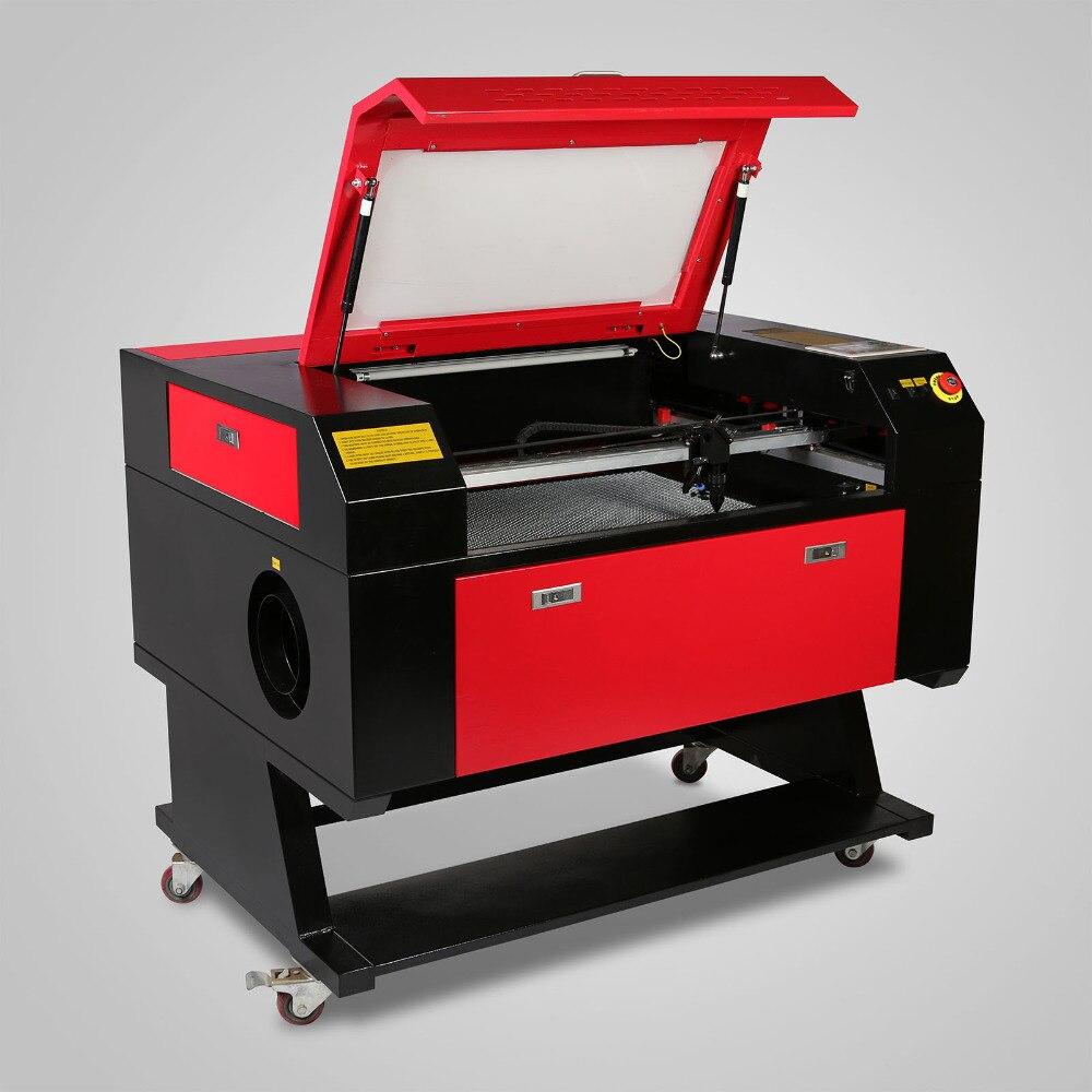 60W USB CO2 Laser Engraving Machine Engraver Cutter W/ Water Pump Air Pump