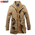 2017 New arrival long men's trench coat thick warm winter trench coat cashmere winter jacket men brand overcoat plus size(FY003)
