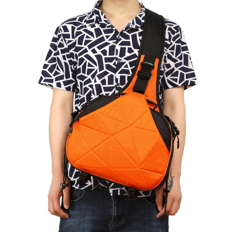 Orange Waterproof Nylon Camera Bag Case Messenger Shoulder bags Triangle Carry Case for Sony Nikon Camera Travel