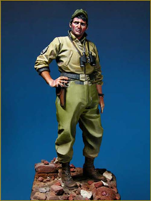 1/18 90mm US TANK CREW Soldiers --90mm   Toy Resin Model Miniature Kit Unassembly Unpainted