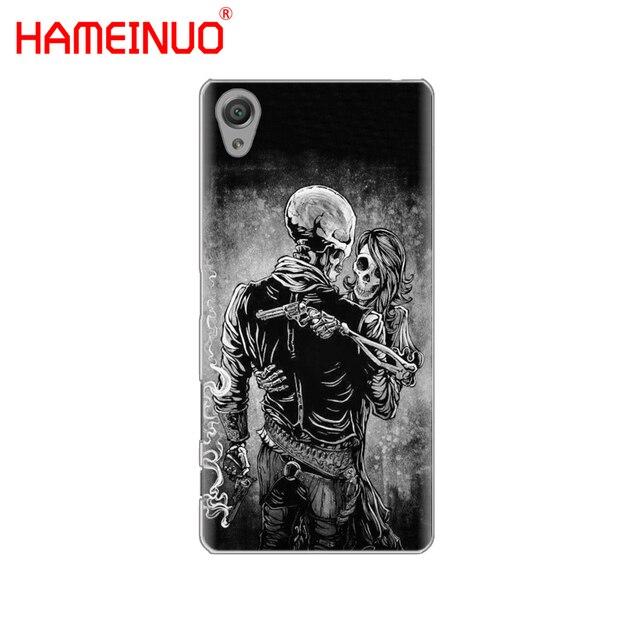 HAMEINUO Horror Skull Cover phone Case for sony xperia C6 XA1 XA2 XA ULTRA X XP L1 L2 X compact XR/XZ/XZS PREMIUM