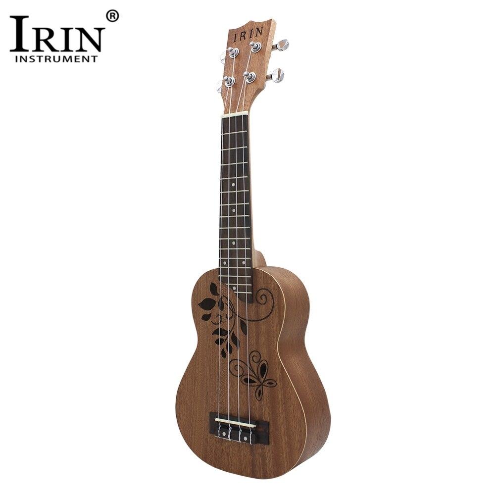 IRIN 21 Ukelele Sapele Body Rosewood Fretboard 4 Strings Guitar Hollow Pattern Stringed Musical Instrument Ukulele For Beginner