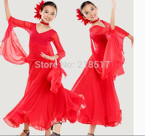 6f80ee72092b87 meisje moderne dancewear meisje Latin Dans Jurk Ballroom Dans kleding kid  s  stijldansen jurk latin praktijk jurk