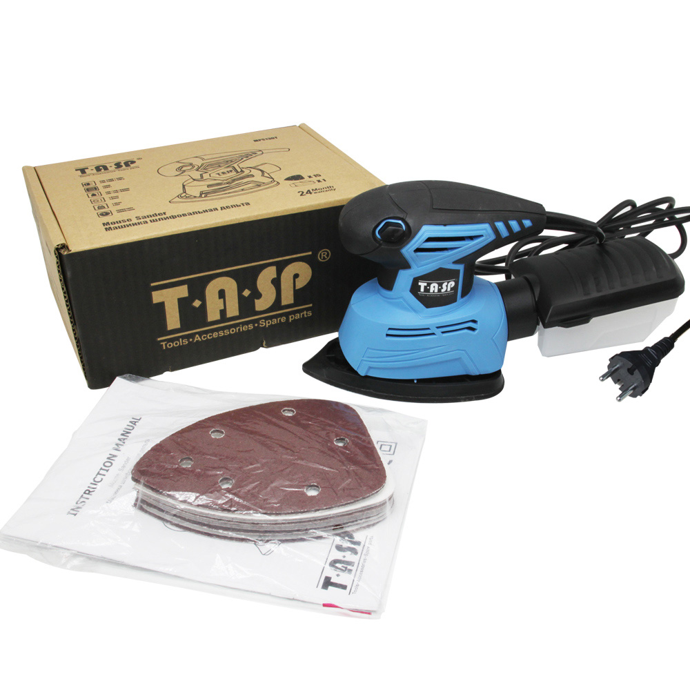 Image 5 - TASP 130W Electric Mouse Sander Detail Sanding Machine Woodworking Tools for Wood with Dust Collection Box & 15 Sandpapers-in Sanders from Tools on