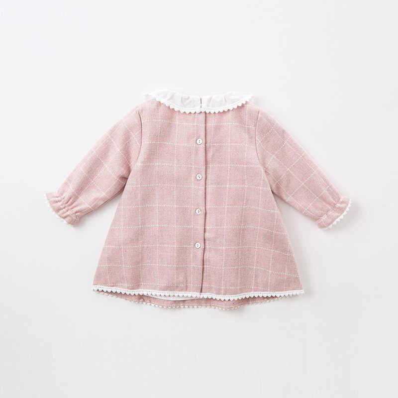 DBZ6132 Dave Bella осень детские принцесса девушка свадьба день рождения платье в клетку детская одежда младенческой конструкции для девочек Vestido