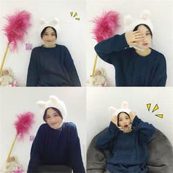 Мультфильм милый симпатичный плюшевый с заячьими ушками шапка, аксессуары для фотографий Косплей игрушка плюшевая игрушка в шапке