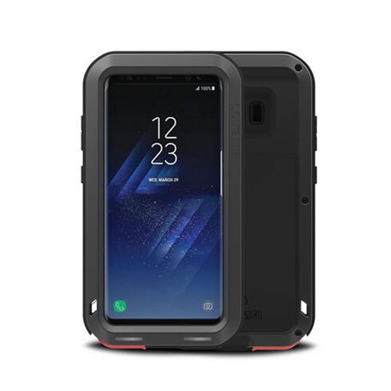 Caisse en aluminium en Métal Pour Samsung Galaxy S8 S8 Plus La Couverture Puissant armure Antichoc Cas Pour Galaxy S7 S6 Bord Note 8 Coque Funda