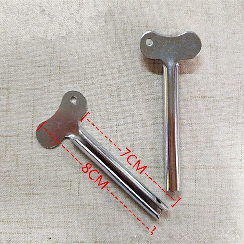 1 Pc Nieuwe Rvs Tandpasta Knijper Multifunctionele Plastic Cream Tube Knijpen Cosmetische Olie Verf Knijper