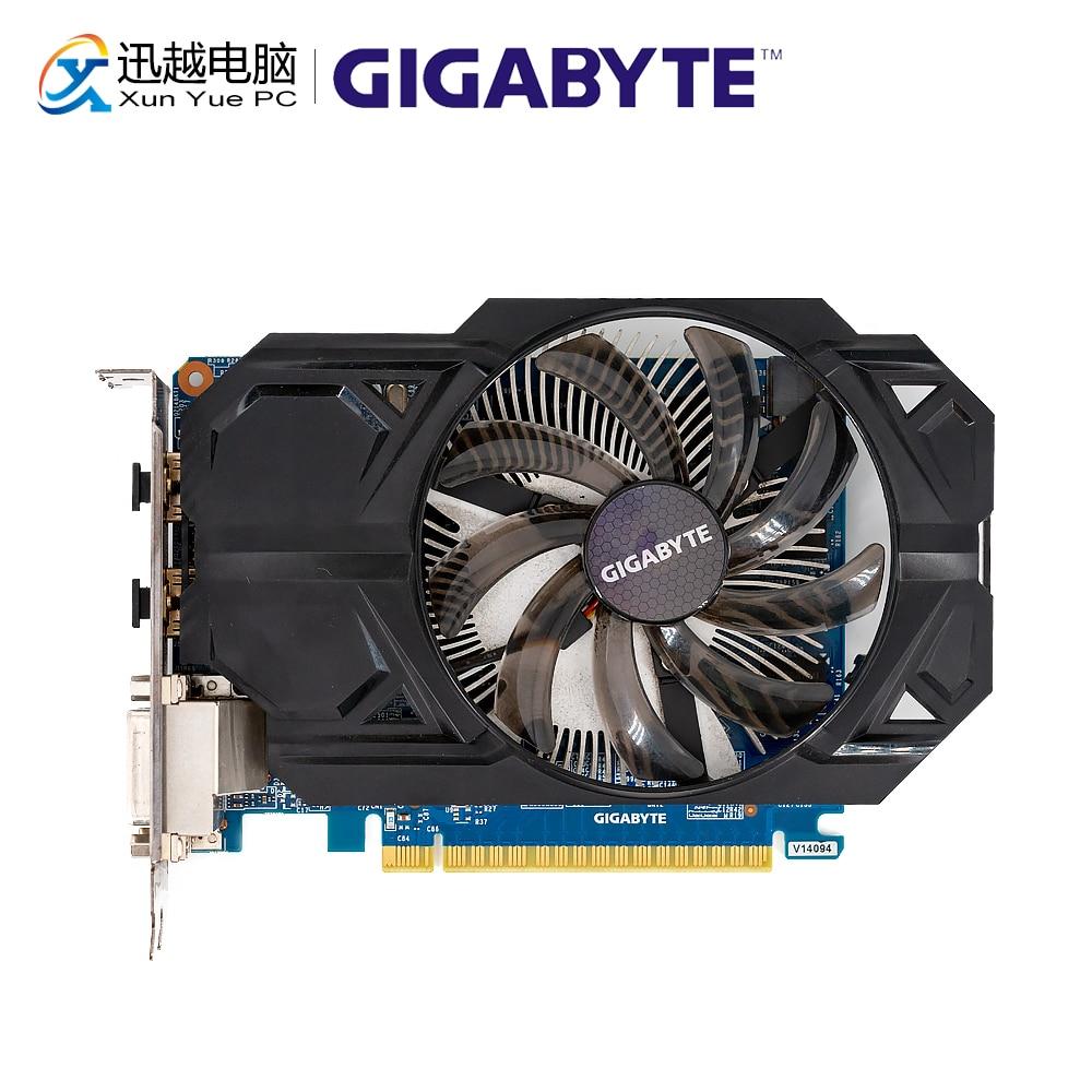 Gigabyte GV-N75TD5-2GI cartes graphiques d'origine 128 bits GTX 750 Ti 2G GDDR5 carte vidéo 2 * DVI 2 * HDMI pour Nvidia Geforce GTX750 Ti