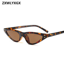 ZXWLYXGX 2018 Regalos Nuevos Cat Eye Sunglasses Mujeres Marca Small Triangle Eyeglasses Vintage Stylish Sun Glasses Mujer UV400