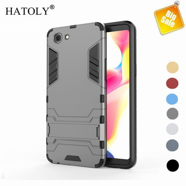 on sale b2aa7 a2eb6 US $2.68 37% OFF|Case OPPO Realme 1 Case Cover Armor Case OPPO Realme 1  Shockproof Back Cover OPPO Realme 1 Funda Capas 6.2