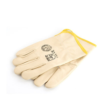 Wear protective gloves leather gloves welder welding soft insulation to avoid high temperature industrial labor short leather