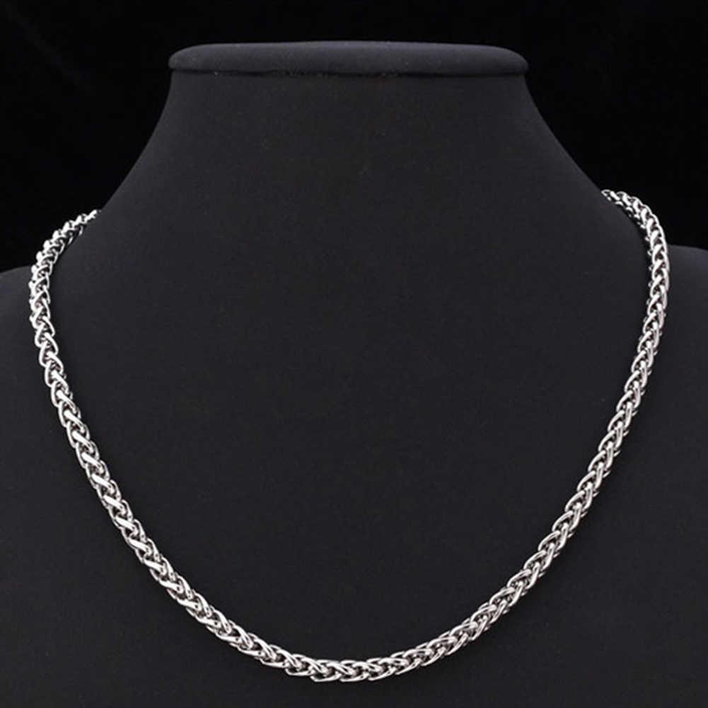 2019 lato męska naszyjnik ze stali nierdzewnej kubański Link Chain złoty czarny kolor srebrny biżuteria męska prezenty dla mężczyzn
