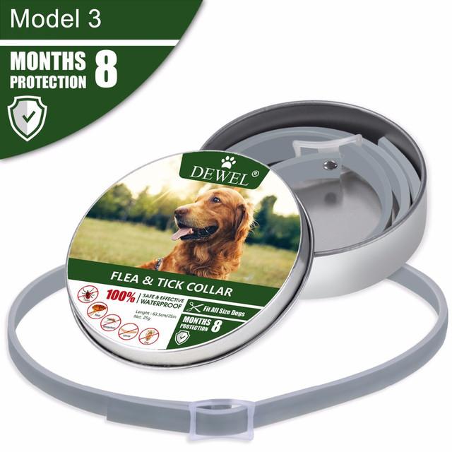 Pet's Grey Plastic Collar
