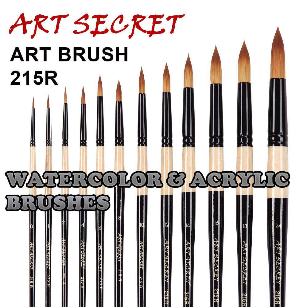 215r 1pc Korean Synthetic Hair High Quality Paint Brushes Artistic Art Painting Brush For Watercolor And Acrylic Drawing In From Office