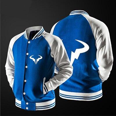 2018 new free shipping baseball jacket Rafael Nadal Natto Bull Logo Printed jacket  no hat,The highest quality, USA size.