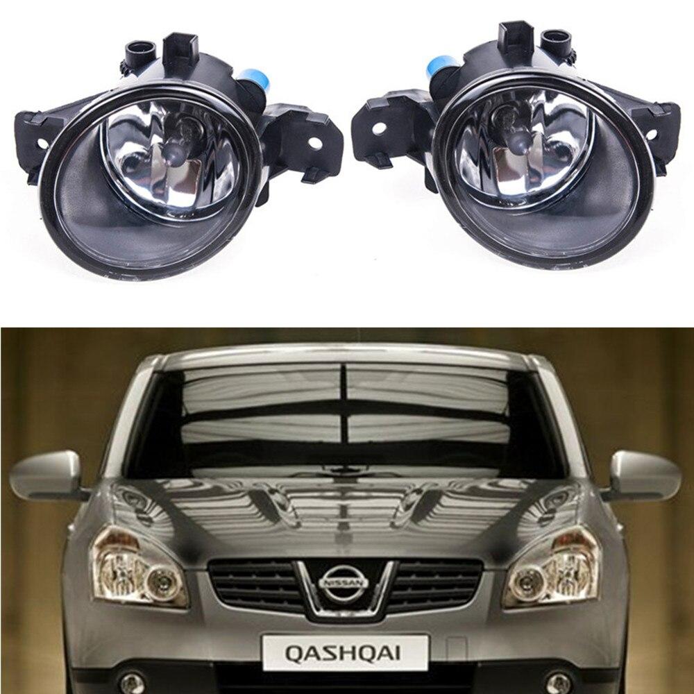 For NISSAN QASHQAI 2007-2013 Car styling Fog Lamps 55W halogen Lights 1SET for lexus rx gyl1 ggl15 agl10 450h awd 350 awd 2008 2013 car styling led fog lights high brightness fog lamps 1set