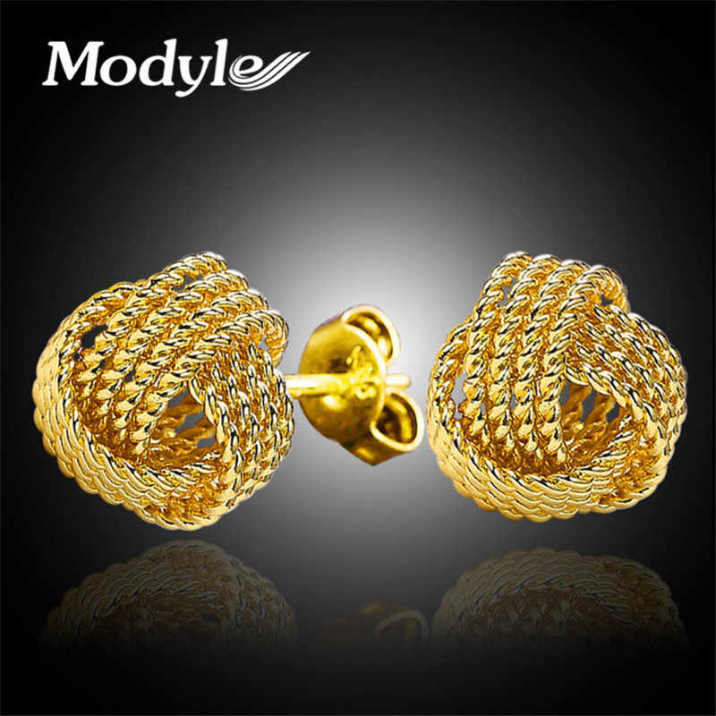 Modyle 2018 New Fashion Women Wedding Silver-Color Stud Small Ball Fashion Gold Color Earrings for Women