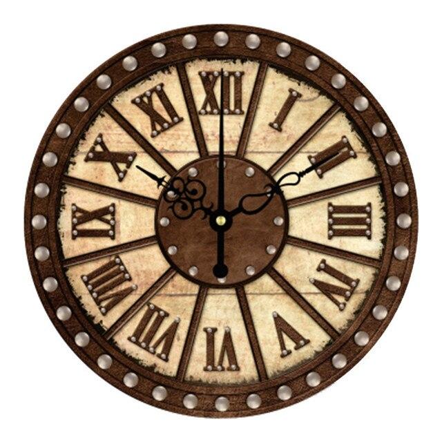 0920c5e80c3 16 Polegada Digital Relógios de Parede Projeto 3D Grande Retro Decorativo Algarismos  Romanos Relógio de parede