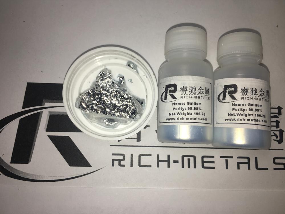 Галлий Металл 99.99% чистый 100 грамм, Changsha богатый цветных металлов Co., Ltd