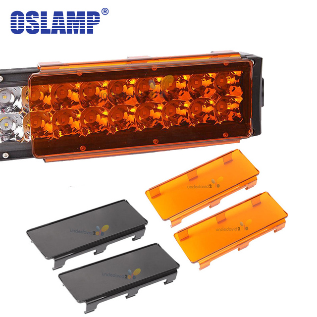 2pcs 6 8 plastic hoods car led work light bar cover amber clear 2pcs 6 8 plastic hoods car led work light bar cover amber clear gray aloadofball Choice Image