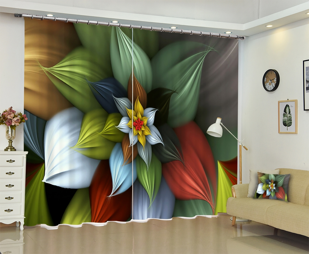 Customized Multi color Modern Luxury 3D Blackout Window Curtain Drapes For Living room Bed room Hotel Wall Tapestry Cortinas Customized Multi color Modern Luxury 3D Blackout Window Curtain Drapes For Living room Bed room Hotel Wall Tapestry Cortinas
