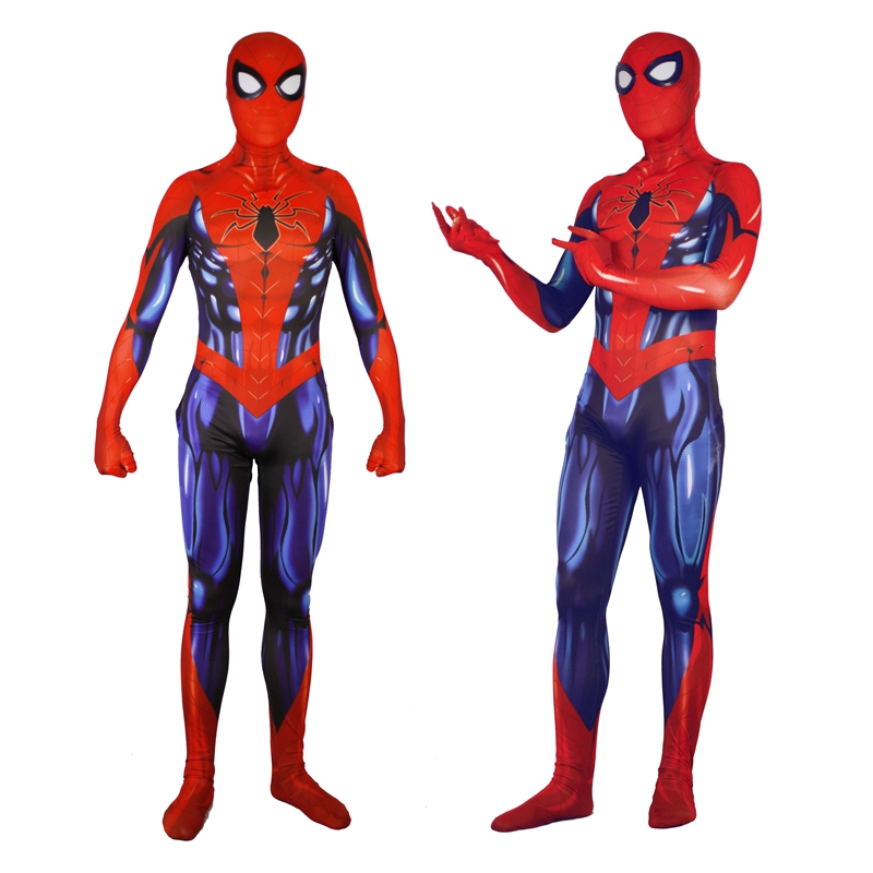 Drop Shipping 2018 Spiderman Spandex Bodysuit Adult Men & Women Superhero Spider Man Cosplay Zentai Costume Catsuit Jumpsuits