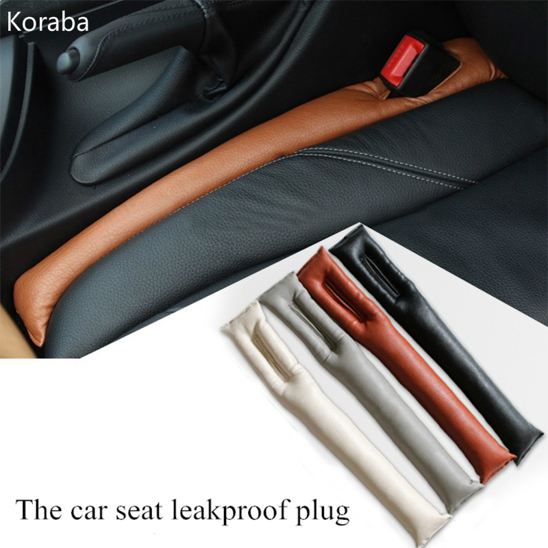 Universal Car Seat Space Cover PU Leather Soft Mat Auto Faux Car Seat Pad Gap Fillers Holster Spacer Filler Padding
