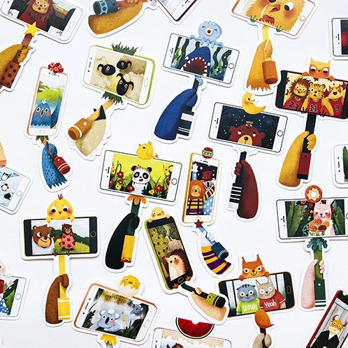 30pcs lets do selfie card multi-use as Scrapbooking party invitation DIY Decoration gift card message card postcard