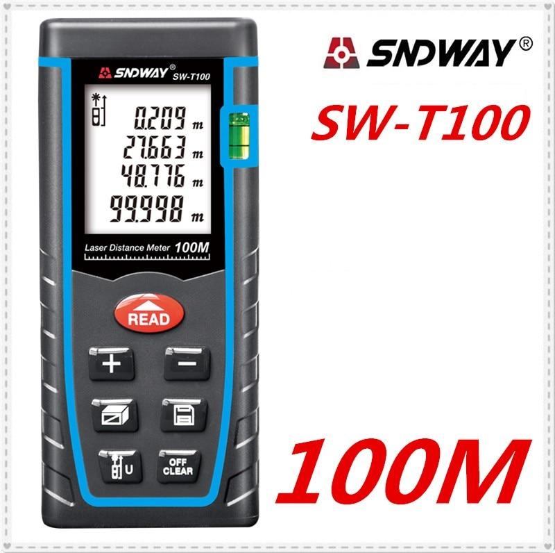 SNDWAY SW-T100 Hand-held Laser Distance Meter Measurement Range Tools 100M-328FT