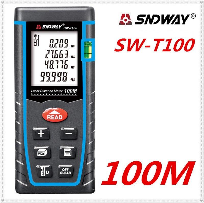 SNDWAY SW-T100 laser mètre de distance laser télémètre 100 m 328ft trena Laser range finder mesure de bande Règle Outil