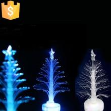Colorful LED fiber optic Christmas tree decoration gifts perspective bright flashing X-mas Tree 5pcs/Lot