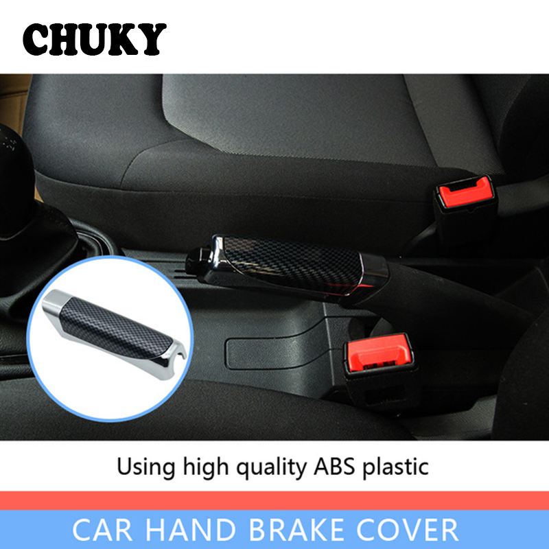 CHUKY Car Styling Hand Brake Sticky Cover For Honda Civic 2006-2011 2017 Audi B5 A6 C5 C6 Ford Focus 2 3 Mk2 Fiesta Accessories