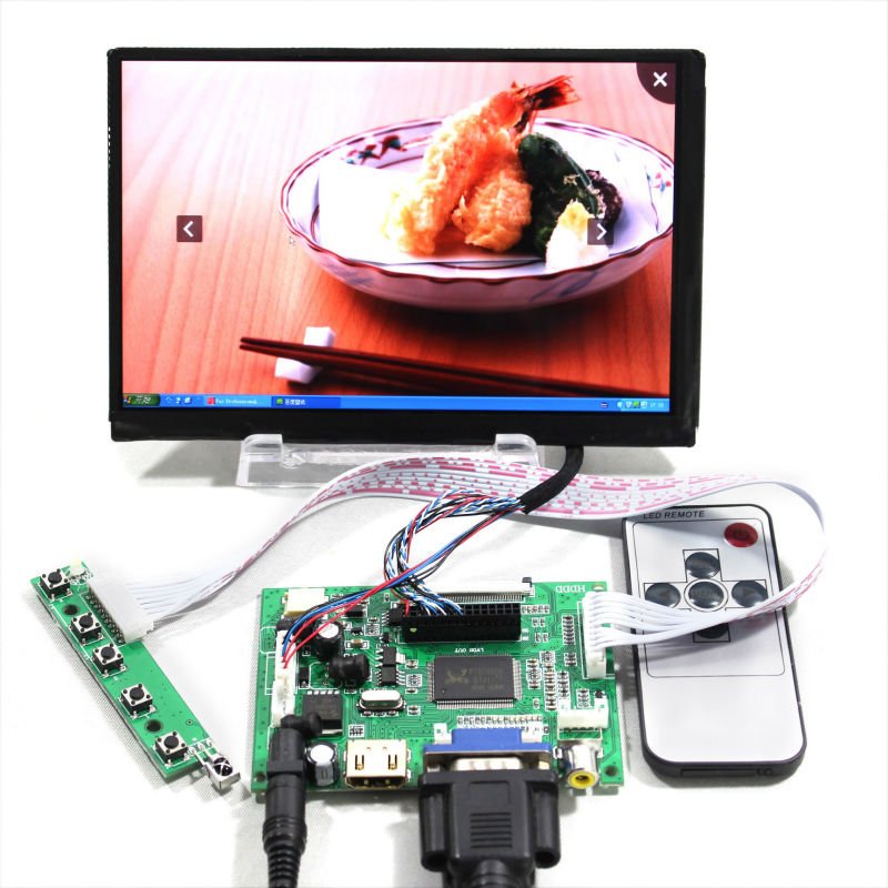 HDMI+VGA+2AV+Remote Lcd controller Board VS-TY2662-V1 +7inch 1280*800 N070ICG-LD1/LD4 IPS LCD screen hdmi vga 2av lcd driver board vs ty2662 v1 for 71280 800 n070icg l21 ips lcd