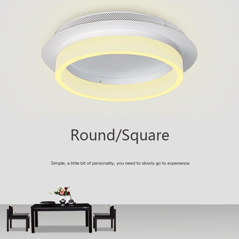 Современный круглый квадратный 20 см светодиодный потолочный светильник для прохода, прихожей, кухонного освещения, светильник для коридор