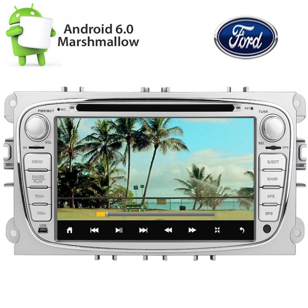 Android 6.0 Car DVD Player GPS Navigation Car Stereo for FORD MONDEO FOCUS S-MAX