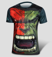 Erkekler 3D Boya T-shirt Yaz Yeni erkek Casual T Shirt Erkek Kişilik Hulk Superhero Baskılı T-Shirt Jersey Yeni