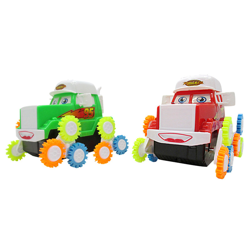 Baby Kids Toy Car Battery Operated Cute Cartoon Somersault Car Truck Toy Model Kids Toy Children Boys Birthday Christmas Gifts