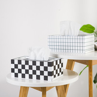 Wood Tissue Box Holder Living Room Desktop Simple Pumping Paper Napkin Holder Home Decoration