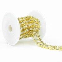 100Yards rhinestone Embellishment chain Sew on Trim Sewing Craft